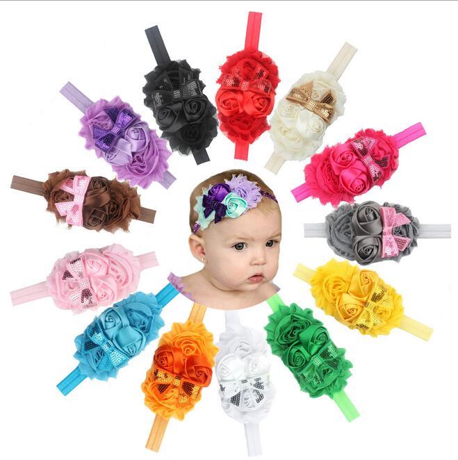 BIg Sale Cute Baby Girl Hair Bow Nice Headband Elegant Flowers Hairband For Toddler Hair Accessories Soft Handwear Cheap Sale(China (Mainland))