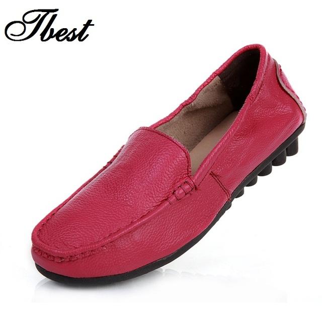 Новых осенью женщины квартиры обувь из натуральной кожи свободного покроя мокасины ...