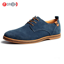 Men shoes 2015 New Suede Genuine Leather Fashion Men Sneakers Casual oxford shoes men Plus size 45,46,47,48 Dropshipping(China (Mainland))