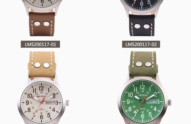 2014 Новый Zhuolei Мужчины Часы Бизнес Кварцевые Наручные Часы Кожа Смотреть Ремешок Ремешок 2014 Новый Мода Повседневная Спорт Бренд