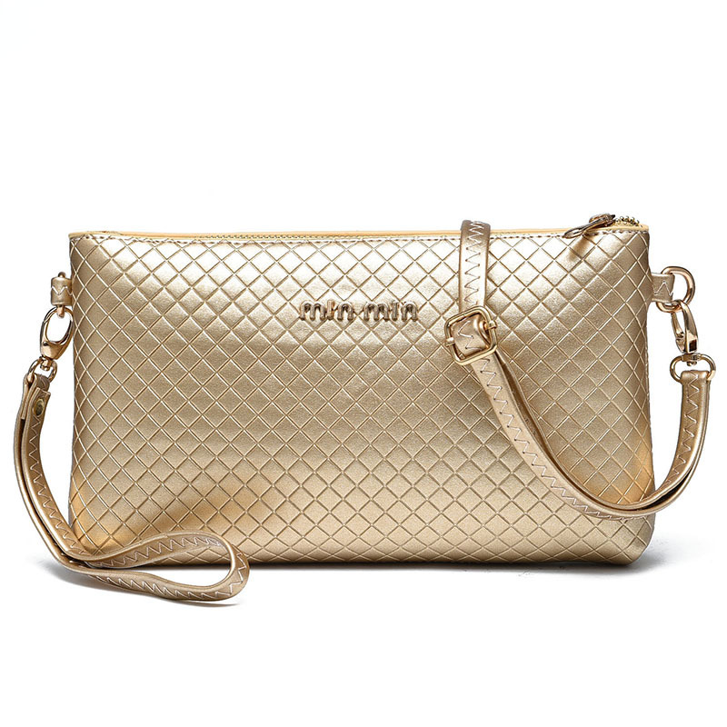 Letter CLutch Messenger Gold Small Mini High Quality Women Bags Luxury Brand Borse Donna Marche Famose 2016 Women Cluch PU Bolso(China (Mainland))