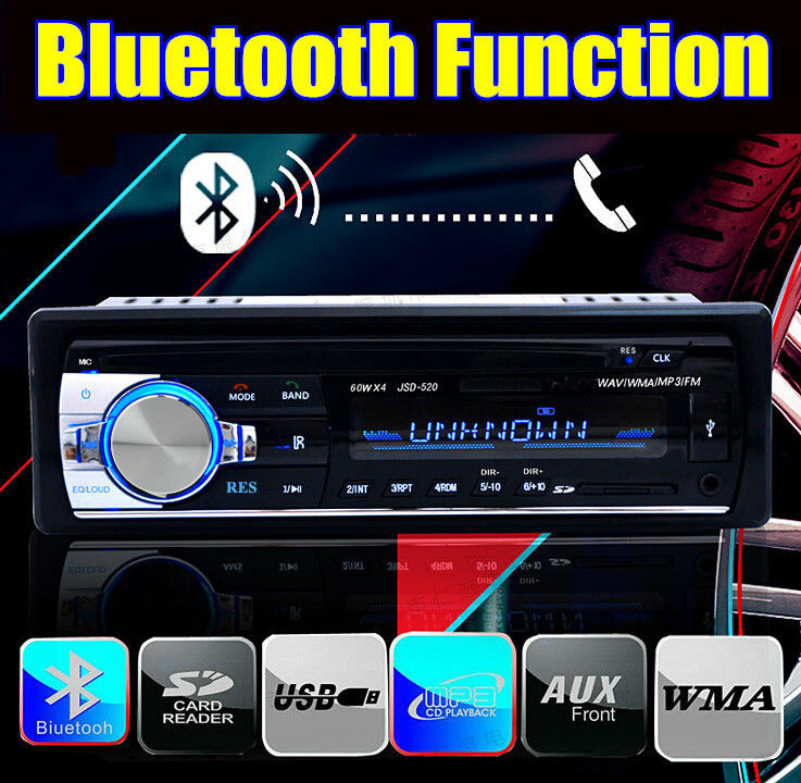 2015 New 12V Car bluetooth radio MP3 car Audio Player freehand Phone with USB/SD MMC Port Car Electronics In-Dash 1 DIN aux in(China (Mainland))