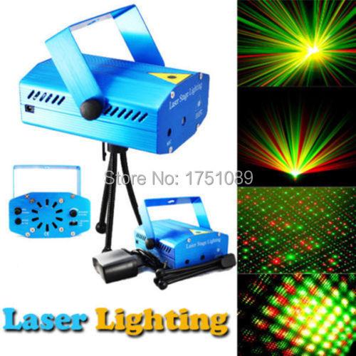 Blue Mini Projector Holographic Laser Star Stage DJ Lighting Club Bar(China (Mainland))