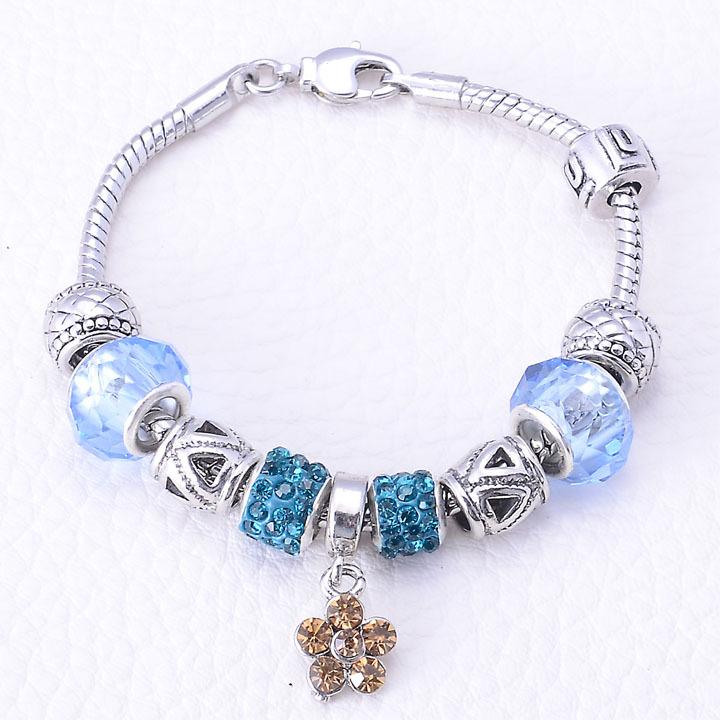 Браслет с брелоками Ewiniar jewelry Aliexpress 925 DIY charm bracelets браслет цепь magic jewelry 925 oem