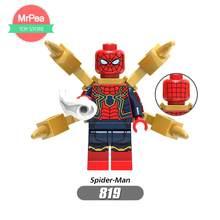 Super Heroes Avengers Marvel lEGOED: infinito Guerra Homem De Ferro Thor Thanos Pantera Negra Falcon Gamora Hulk Loki Building Blocks toy(China)