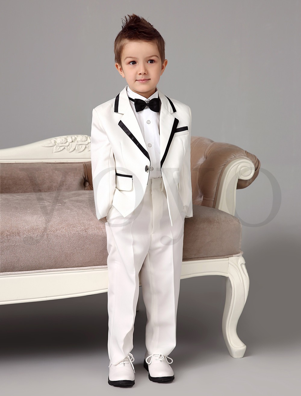 2015 autumn new boys white tuxedos wedding attire baby boy for Boys dress clothes wedding