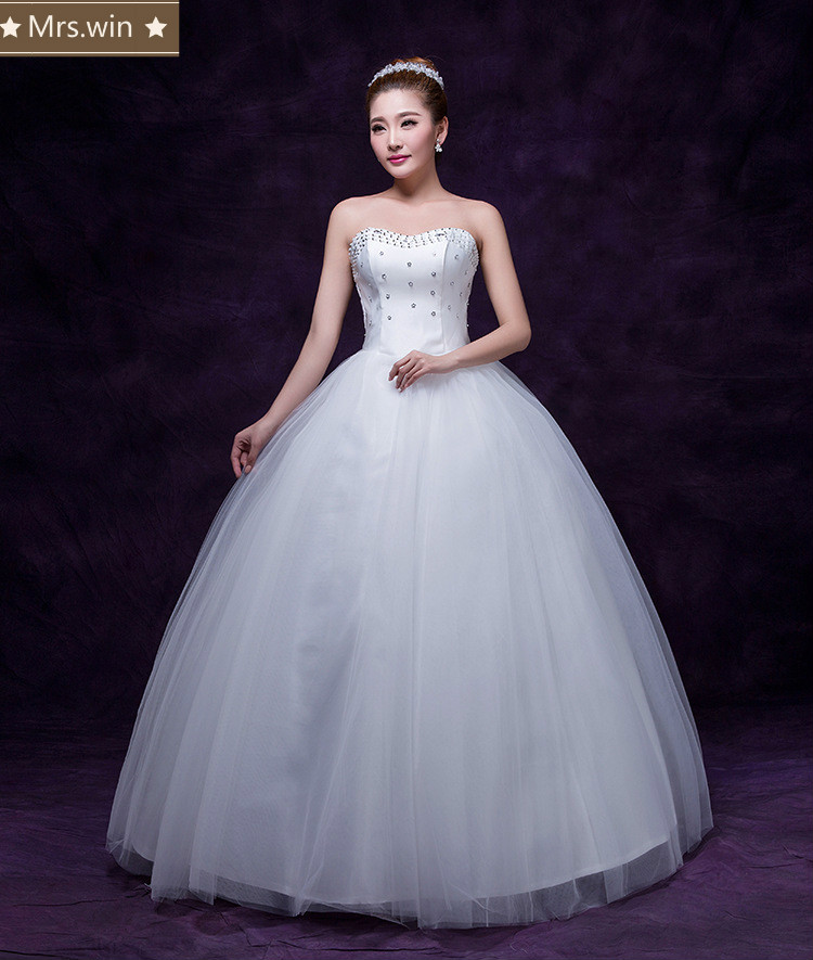 WM0104 Cheap Price High Quality Luxury Puffy Sweetheart Wedding Gowns China Aliexpress Ball Gown white Wedding Dresses 2017(China (Mainland))