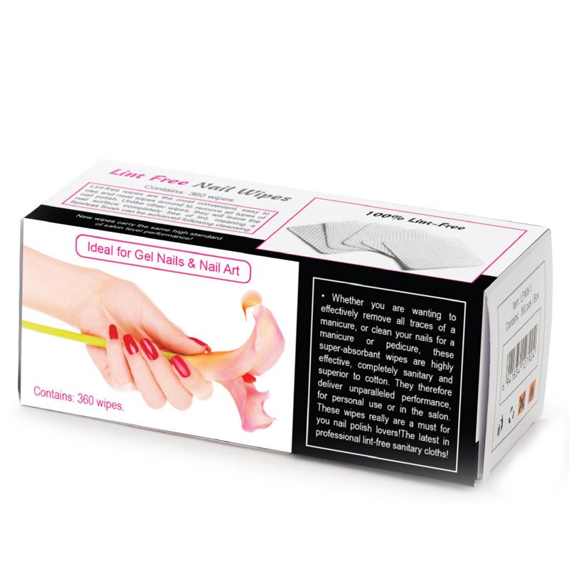 3600 pcs Lint Free Nail Art Gel Polish Acrylic Remover Cleaner Soft Absorbent Cotton Pad Nail Wipes F0556X(China (Mainland))