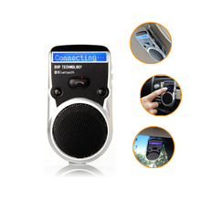 Solar Powered Speakerphone Wireless Bluetooth Handsfree Car Kit For Mobile Phone Dual Phone Connect(China (Mainland))