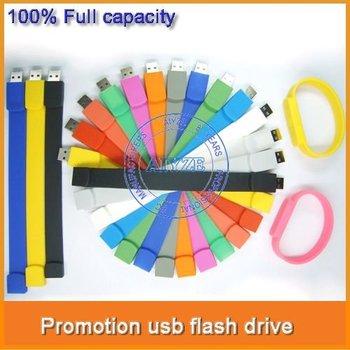 16GB usb wristband MOQ:1pcs wholesale U1022A  print logo