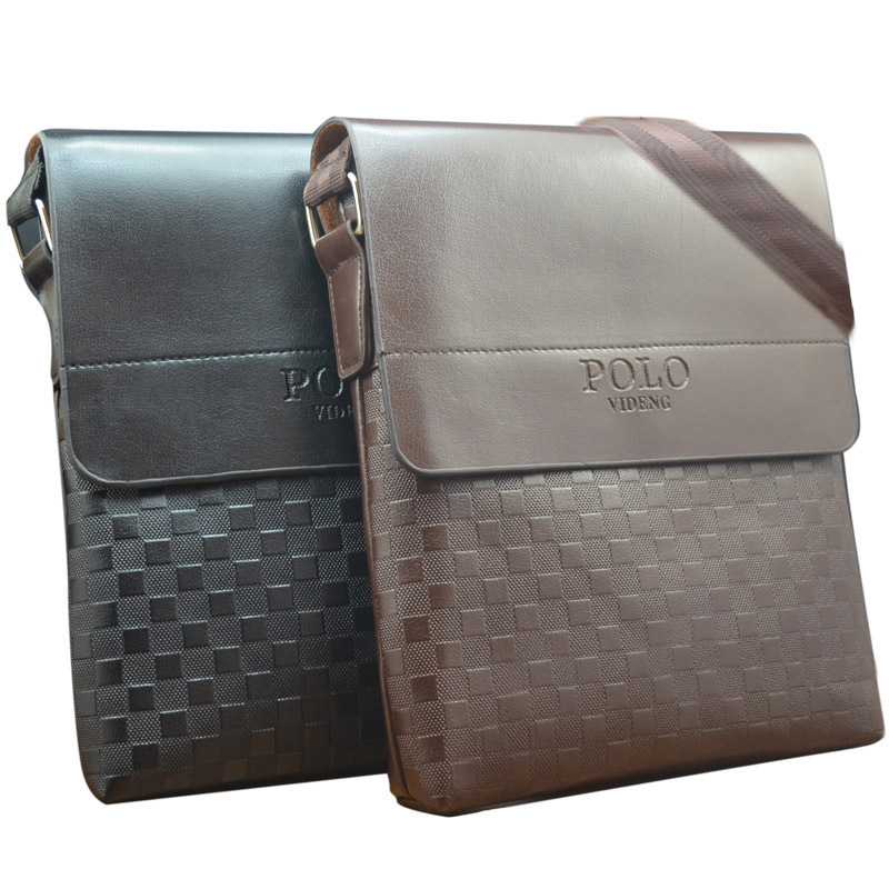 New 2016 fashion men bags, polo videng men casual leather squares messenger bag,high quality man brand small crossbody bag(China (Mainland))