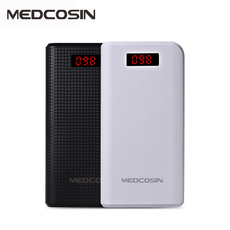 Medcosin MP-P01 LED 2.1A Dual USB 20000mah Baterias Externas Mobiles Portable Charger Cargador Power Bank(China (Mainland))