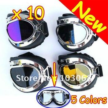 2012 New Design Dual Folding Motorcycle Helmet Goggles ATV Motocross Accessory Youth Goggles For Harley 10 PCS/LOT