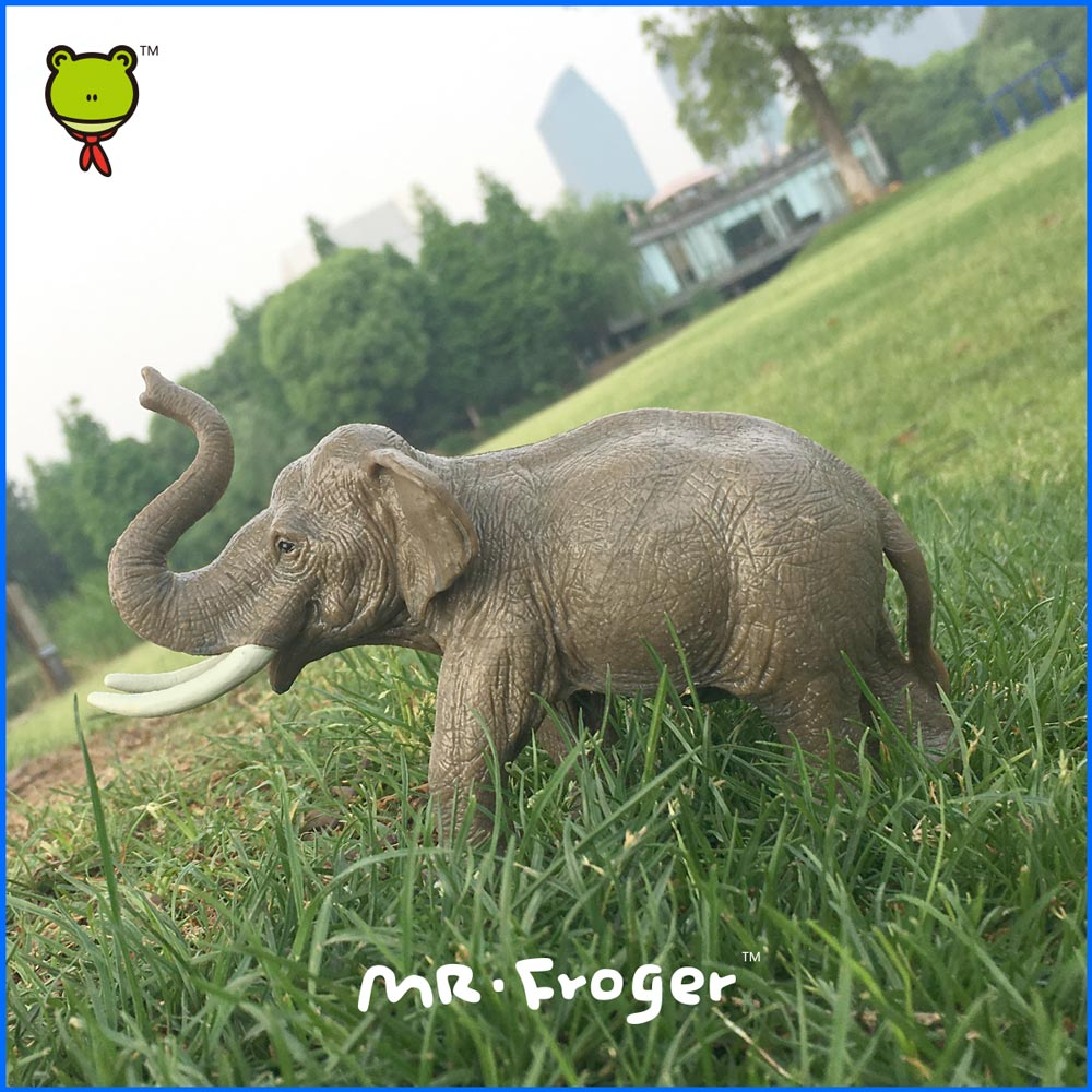 Mr.Froger Elephant model toy Classic Children modeling zoo wild animals toys set PVC Dolls Solid plastic PVC Science Education(China (Mainland))