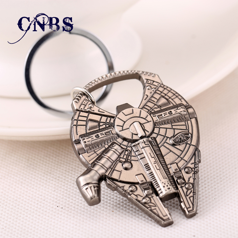 12/pcs Star Wars Millennium Falcon Light metal Keychain spaceship vessel Bottle Opener Souvenirs Key chain Nice gift Key Rings<br><br>Aliexpress