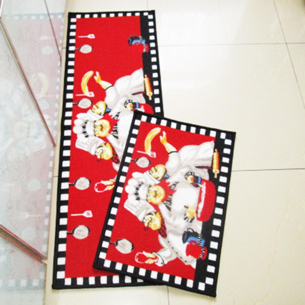Chef pattern Dining Room Mat Machine Washable Floor Carpet Kitchen Rug Floor Mat Home Decor Rectangle