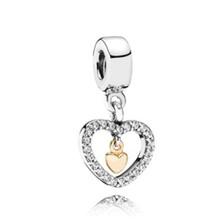 Dodocharms banhado a prata asas de anjo casa cavalo amor asa coração charme contas caber pandora feminino diy pulseiras pulseiras jóias(China)