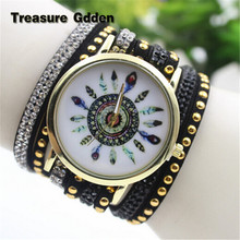 2016 New Colorful Watch Stainless Steel Wrist Watches High Quality Korea Cashmere Band Wrap Bracelet Wrist Watch Women(China (Mainland))