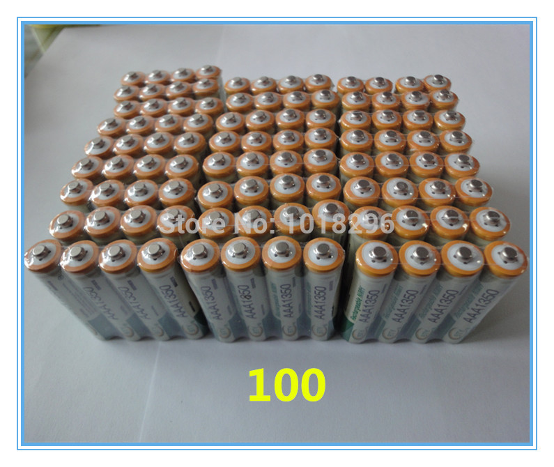 NEW 100pcs AAA 1350mAh BTY Ni-MH Rechargeable Batteries for camera toys Free shipping<br>