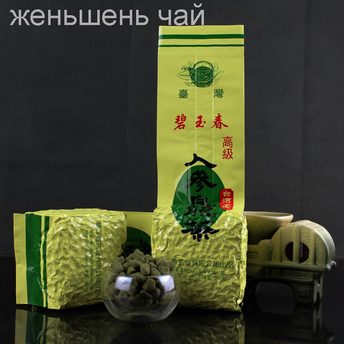 Ginseng tea 250 grams of sweet * high quality organic green tea Taiwan ginseng tea Taiwan tea 250 grams + free delivery(China (Mainland))