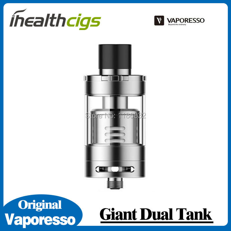 100% Original Vaporesso Giant Dual Tank 4ml with CCELL Triple Coil/ RTA Building Deck Giant Atomizer(China (Mainland))