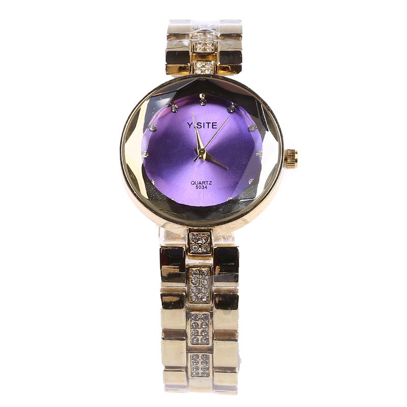 Luxury Noble Gold Quartz Watch Women Stainless Steel Analog Rhinestone Fashion Dress Wristwatch Relogio Feminino 164<br><br>Aliexpress