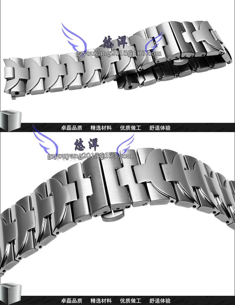 316 л из нержавеющей стали регулируемая ссылка браслет 24 мм ремешок для часов ремешок с двойным нажмите замок для P-A-N-E-R-A-I