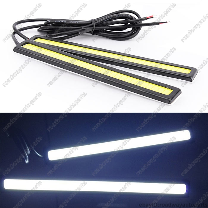 Free Shipping auto car 2X Bright COB White Car LED Lights for DRL Fog Driving Lamp Waterproof 12V(China (Mainland))