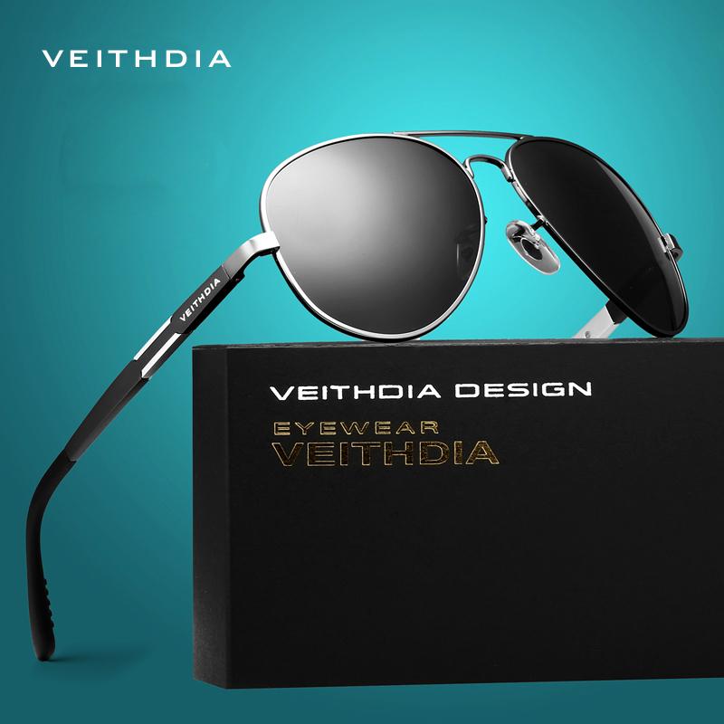 VEITHDIA Aluminum Magnesium Men's Sunglasses Polarized Sun Glasses Male Driving Fishing Outdoor Eyewears Accessories Men 6695(China (Mainland))