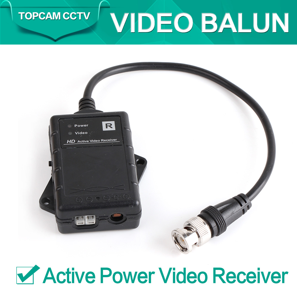 HD UTP Network Active Power Video Receiver Balun CAT.5e,CAT.6,CAT.6e,CAT.7 to Camera CCTV BNC Support 720P AHD Camera Up to 500M(China (Mainland))