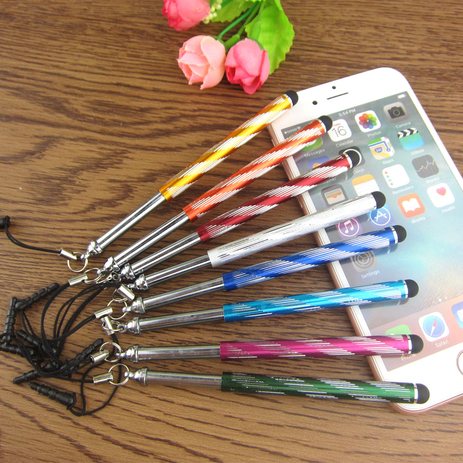 5000 pcs/lot Universal Long Capacitive Screen Touch Pen Stylus for Smart Cell Phones Tablets Pens with Dust Plugs(China (Mainland))