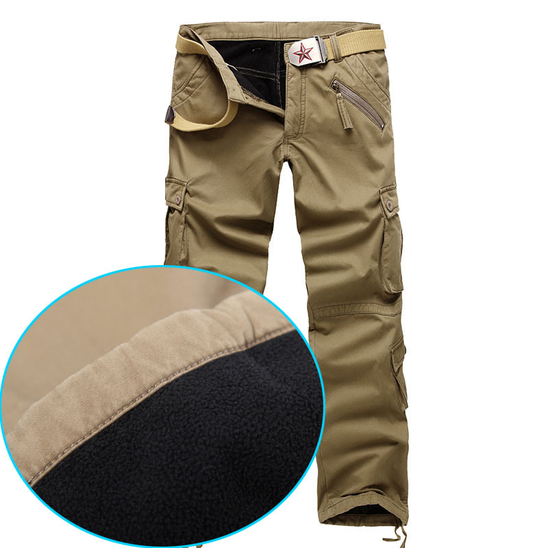 military pants men Fleece Winter outdoor trousers thickening us tactical army pants cargo training pants mens pants moletom(China (Mainland))