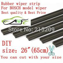 """Free shipping Auto Car Vehicle Insert Rubber strip Wiper Blade (Refill) 6mm Soft 26"""" 650mm 10pcs/lot car accessories(China (Mainland))"""