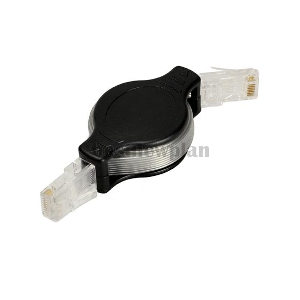 Portable Retractable RJ45 Ethernet LAN Internet Network Cable Black(China (Mainland))