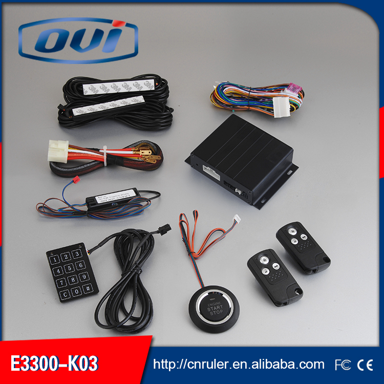 Special 12 V auto car engine start stop PKE keyless entry system with push start button(China (Mainland))