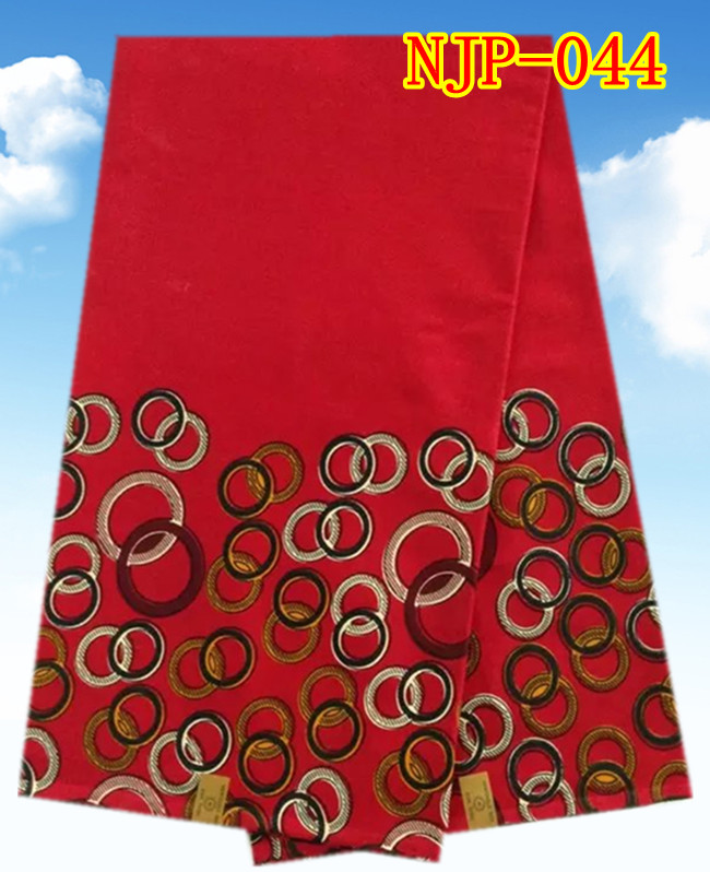 6 yards/lot High quality stylish pattern African wax prints cotton fabric in red for garment retail or wholesale NJP-044(China (Mainland))