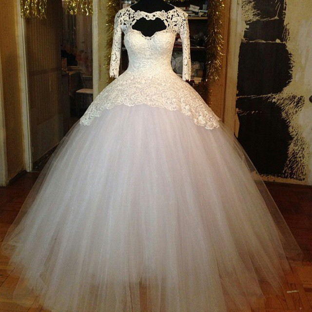 Wedding Dresses  Made In : Applique ball gown cheap wedding dresses made in china cj robe g