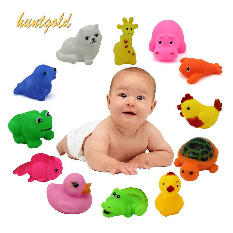 2 pcs/Lot random Mixed Different Cute Animal baby Rubber Bath Toys Swimming Toys Children Kids Gift S33(China (Mainland))