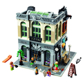 LEPIN 15001 Creators Modular City Series Bank Model house Toy Minifigures Building Blocks Birthday Compatible With