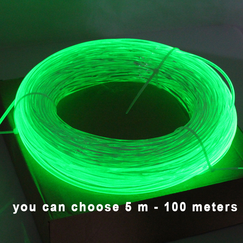 5meters 3.0mm Side Glow Fiber Optic Cable car light(China (Mainland))