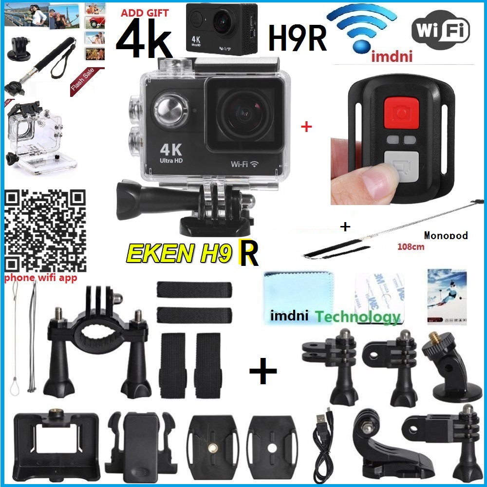 Original EKEN 2016 remote control Action camera Ultra HD 4K WiFi 1080P gopro style 170D Helmet Sports go waterproof pro Camera(China (Mainland))