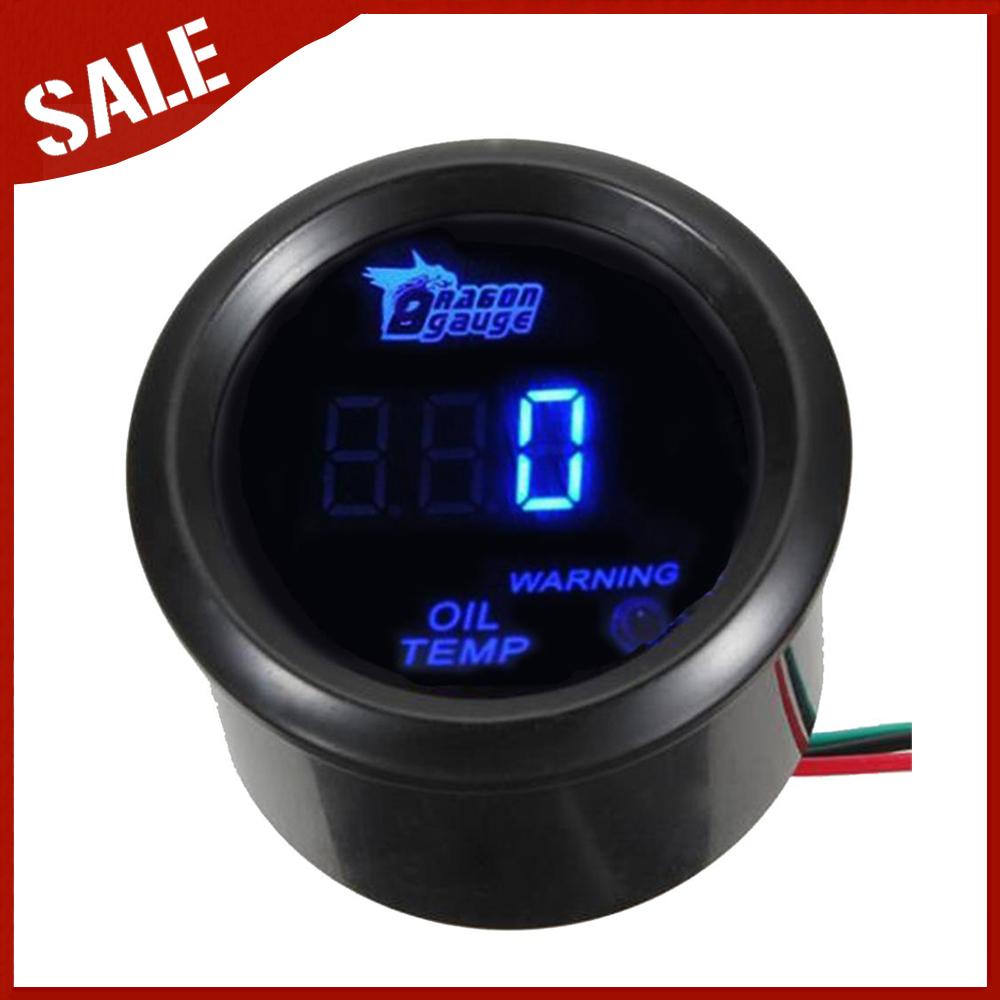 "2 "" 52 mm carro preto Motor azul Digital LED Oil Temp temperatura LED bitola métrica(China (Mainland))"