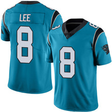 Men's #8 Andy Lee Elite Blue Rush Football Jersey %100 Stitched(China (Mainland))
