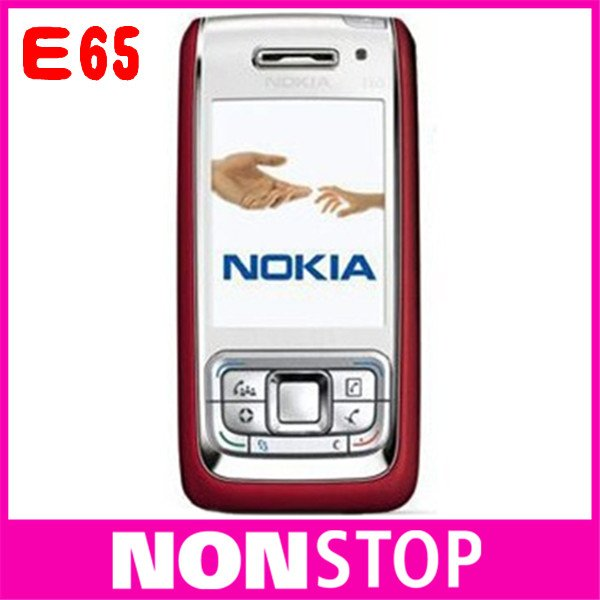 brand original nokia E65 cell phones, unlocked 3G NOKIA E65 mobile phones bluetooth mp3 player wifi sigle card 5PCS/LOT(China (Mainland))