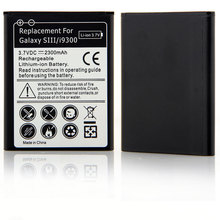 Brand New Arrival 3.7V DC Li-ion 2300mAh Rechargeable Battery Replacement For Samsung Galaxy S3 I9300 Black