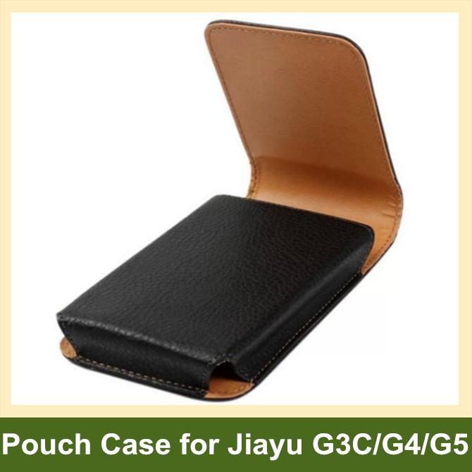 Belt Clip PU Leather Vertical Flip Cover Pouch Case for Jiayu G3C G4 G4C G4S G5 100pcs/lot Free Shipping