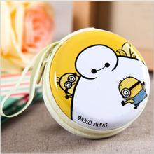 New Women Kids Mini Coin Ellipse Personality Canvas Clutch Bag Wallets headphones Purses Fashion Wallets baymax kids wallet