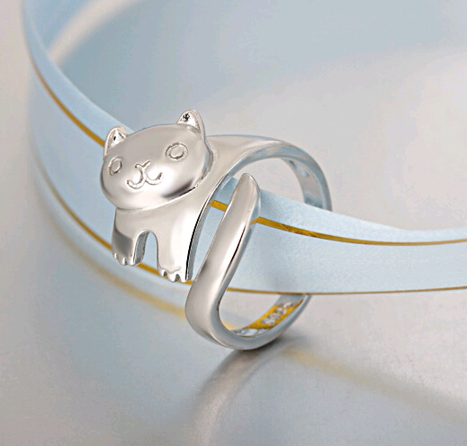 The new 925Korean fashion panda silver jewelry ring opening simple ring R1058(China (Mainland))
