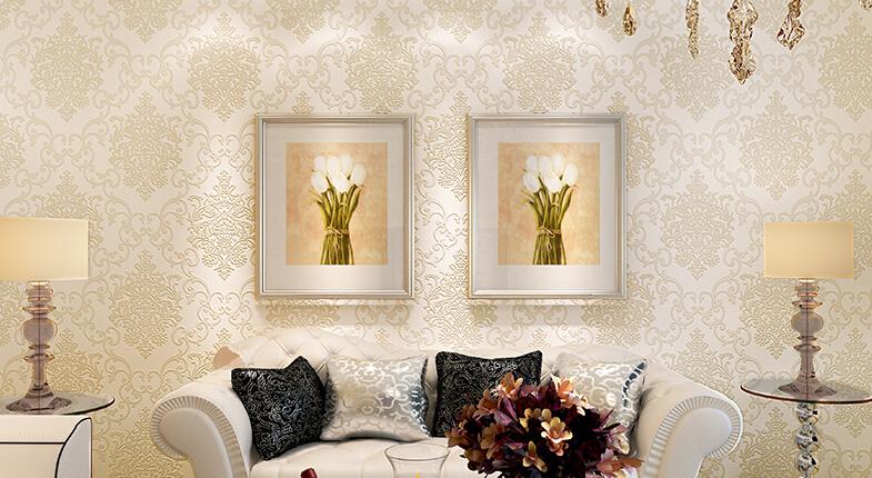 Woven Leaves Wall Decor : M d luxury silver shining non woven leaf rilievo