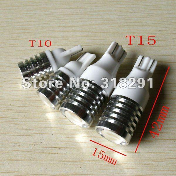 2pcs/lot T15 T10  Cree R5 High Power Car Signal Tail Turn LED Cree Q5 Light Bulb White free shipping1